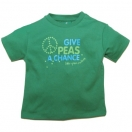 Give Peas a Chance green, t-shirt