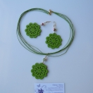 Green flower set