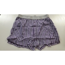 Men's plum striped boxer