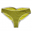 Women's mouline ruche: yellow flame