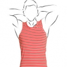 Men's vest: Coral stripe