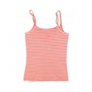 Women's vest: Coral stripe