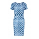 Irena dot print dress