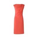 Drapeeritud kleit, korallroosa