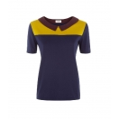 Linda colour block collar topp