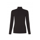 May turtle neck top, black