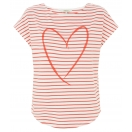 Stripe heart tee