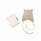 Baby hat with teddy ears, brown