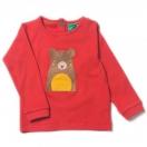 Karu aplikatsiooniga  punane pluus
