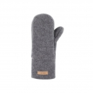Wool fleece mittens, grey