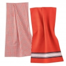 Dish towel, pack of 2, red