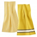 Dish towel, pack of 2, yellow