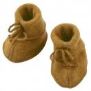 Baby bootees, safran