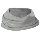 Children's merino wool-silk loop scarf, grey melange