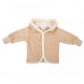 Baby velour jacket with hoodie, brown