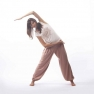 Bamboo yoga pants, uniseks, light brown