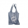 Foldable shopping bag with dolphins, blue