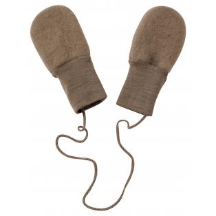 Tellimisel: Vanutatud villast ilma pöidlata beebikindad, kreekapähklipruun