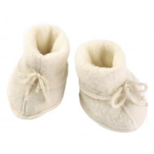 Tellimisel: Vanutatud villast beebipapud, nat.valge