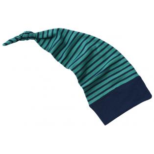 Tellimisel: Beebi villa-siidi päkapikumüts, jääsinine-tumesinine (40-48cm)