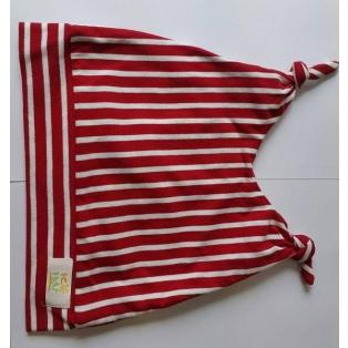 Punase-valge triibuline müts