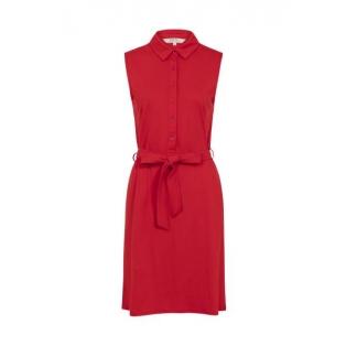 Lenna Shirt Dress Red