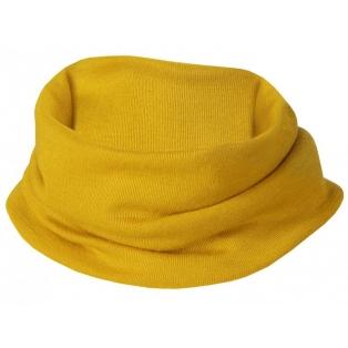 Children's merino wool-silk loop scarf, saffron