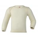 Upon order: Baby wool envelope-neck vest long sleeved, natural