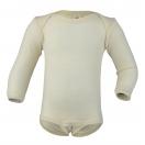Upon order: Baby wool envelope-neck body long sleeved, natural