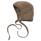 Upon order: Baby wool bonnet, walnut