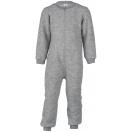 Upon order: Baby wool fleece overall with zipper, light grey
