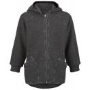 Tellimisel: Vilditud villast väikelaste kapuutsi ja lukuga jakk, magma