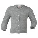 Upon order: Baby wool-silk cardigan, light grey