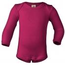 Upon order: Baby wool-silk envelope-neck body long sleeved, raspberry