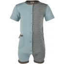 Upon order: Baby wool-silk playsuit short sleeved with, glacier-wallnut