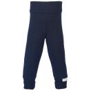Upon order: Baby cotton pants long with waistband, indigo