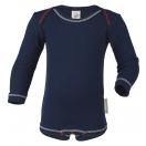 Upon order: Baby cotton body long sleeved, indigo