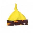 sõlmega kollane beebimüts