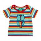 Mr Wolf tee spring rainbow stripes, t-shirt