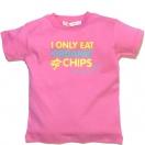 T-särk I Only Eat Organic Chips, roosa