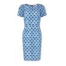 Irena dot print dress
