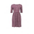 Elsie check dress, bordou