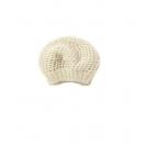 Trinity stitch hat. Cream