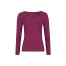 Organic Long Sleeve Scoop Top, burgundy