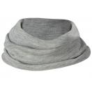 Children's merino wool-silk loop scarf, grey melange