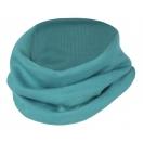 Children's merino wool-silk loop scarf, ice-blue