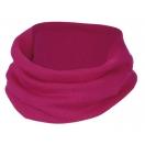 Children's merino wool-silk loop scarf, raspberry