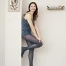 Naiste sukkpüksid Franziska - petrooleumsinised 50 DEN